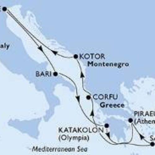 Krstarenje prema grčim otocima 17.-24.11.19.