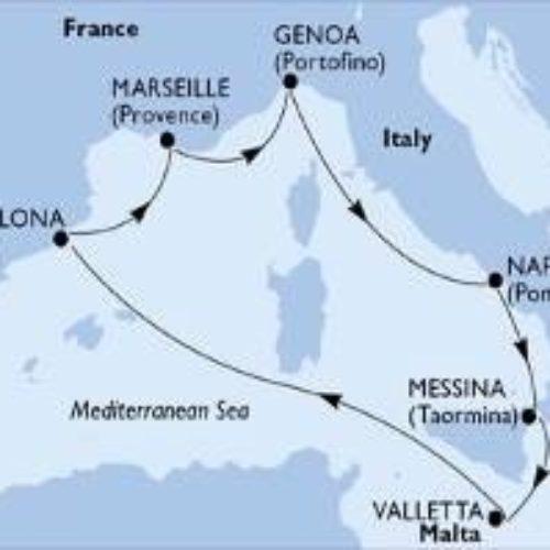 Jesensko krstarenje Mediteranom