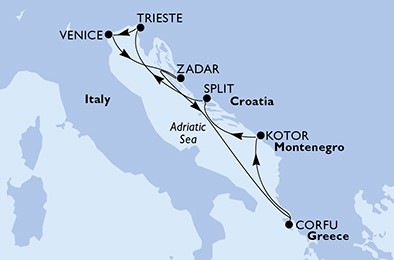 itinerar istočni Mediteran